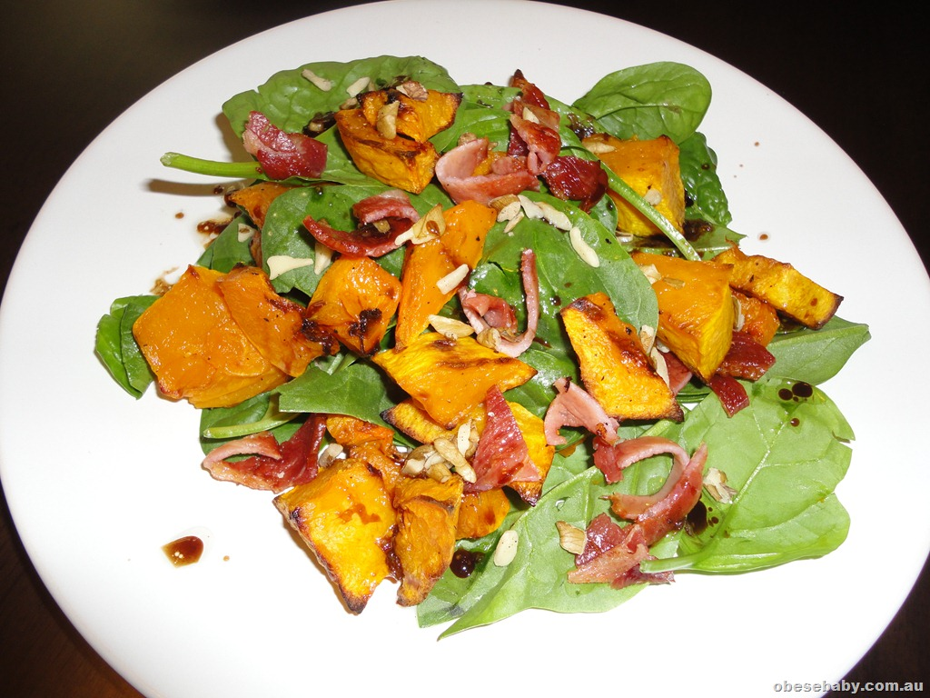 Roasted Pumpkin Salad with walnuts | Obesebaby